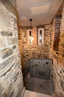 the original stone stairway